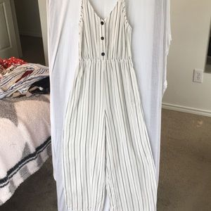 H&M stripped jumpsuit